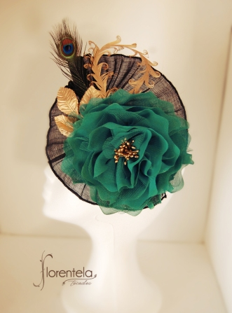 tocado-sinamay-seda-negro-verde