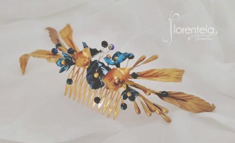 peineta-dorada-azul
