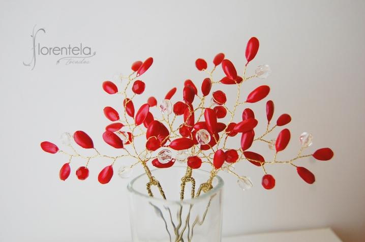 horquillas rojas