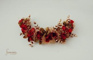 tocado-golden-red