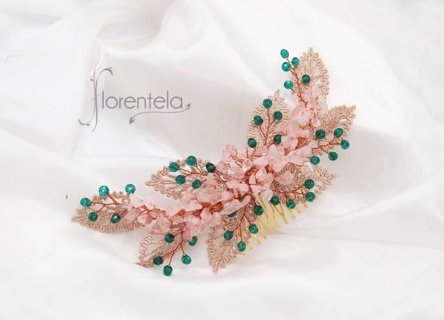 tocado-guipur-piedra-cuarzo-rosa-cristal-verde