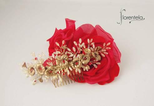 peineta-flores-barrocas-dorado-rojo