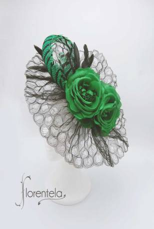 tocado-negro-verde-esmeralda