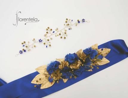enredadera-adorno-cinturon-azul-dorado