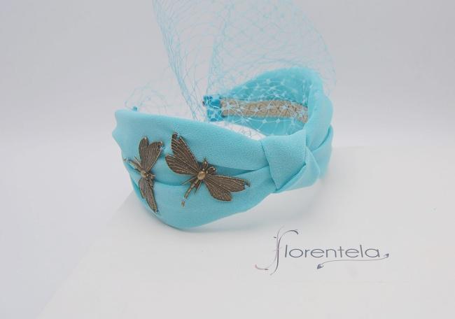 diadema-crepé-azul-libelulas