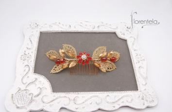 peineta-dorado-rojo-hojas-guipur-cristal